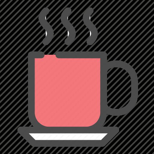 coffee, food, glass, hot, mug, tea icon