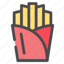 fast food, food, french fries, potato icon