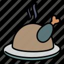 chicken, meat, steak, food