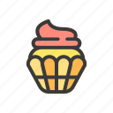 beverage, cake, cookies, drink, food, cupcake