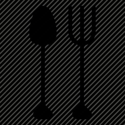 breakfast, dinner, food, fork, galley, kitchen, spoon icon