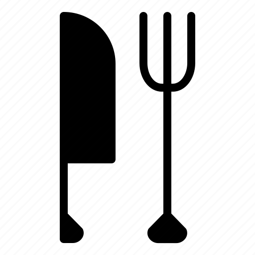 food, fork, galley, kitchen, knife icon