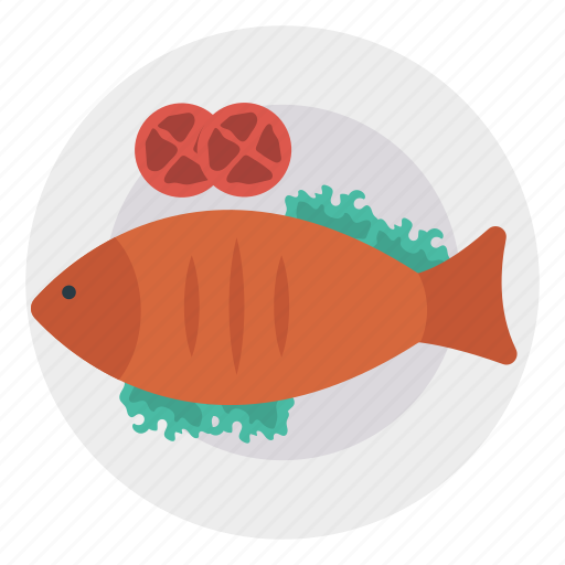 fish, hotel, plate, seafood icon