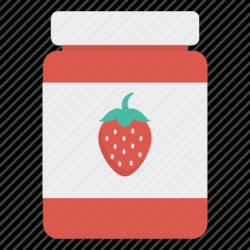 bottle, food, jam, strawberry icon