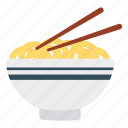 bowl, eat, food, noodles icon