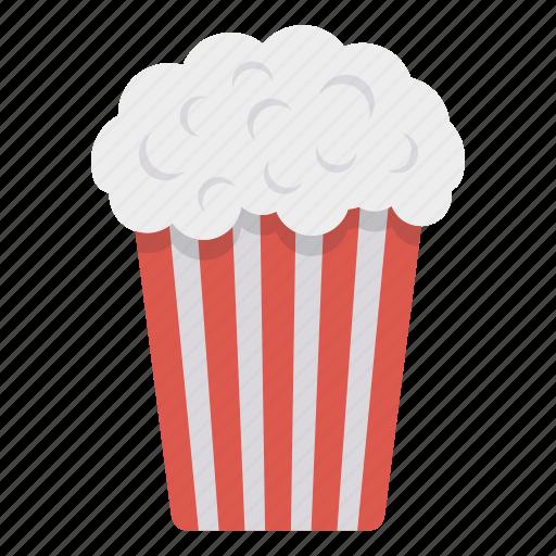 food, movie, popcorn, snack icon