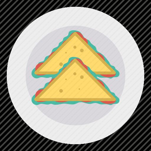 baked, food, fried, samosa icon