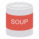 can, drink, soup, tin icon