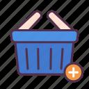 add, basket, buy, cart, online, shopping, web icon