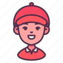 career, courier, delivery, male, man, postman, shipping icon
