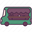 cooking, dinner, food, meal, restaurant, street, truck icon