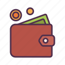 banking, cash, coin, money, paid, payment, wallet icon