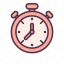 clock, delivery, destination, fast, shipping, times icon