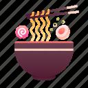 asian, bowl, chopsticks, food, japanese, noodles, ramen