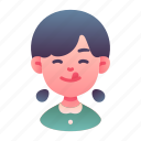 avatar, child, delicious, girl, happy, hungry, kid icon