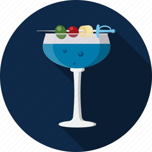 blue, cocktail, drink icon