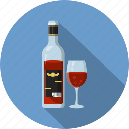 bottle, drink, glass, red wine, wine icon
