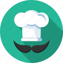 avatar, chef, hat, male icon