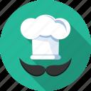 avatar, chef, hat, male icon