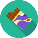 chocolate, dessert, foil, sweet, tablets icon