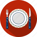 fork, knife, menu, plate, restaurant icon