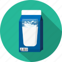 carton, glass, milk icon