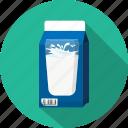 carton, glass, milk icon