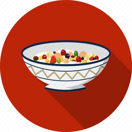 cereal, fruit, muesli icon