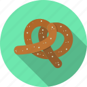 food, pretzel, snack icon
