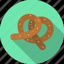 food, pretzel, snack icon