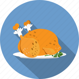 chicken, food, roast icon