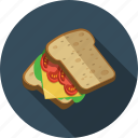breakfast, sandwich icon