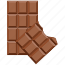 chocolate, chocolate bar, dessert, sweet icon
