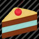 cake, chocolate cake, dessert, sweet icon