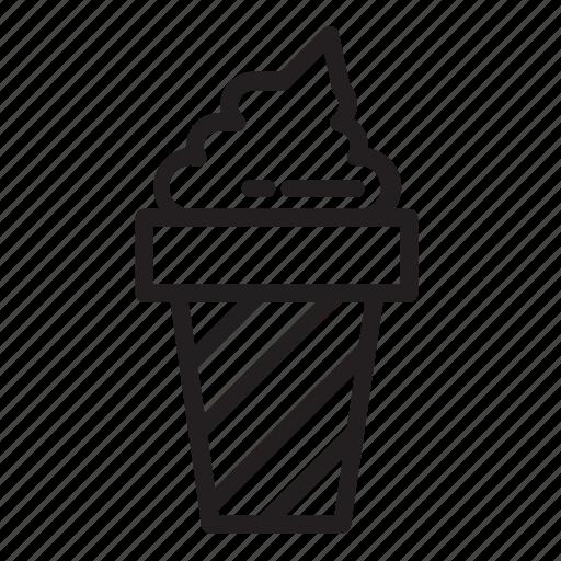 cone, cream, cup, food, ice icon