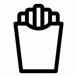 fast food, food, french, fries, salt icon