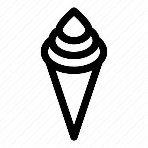 cone, cornet, cream, food, ice, wafer icon