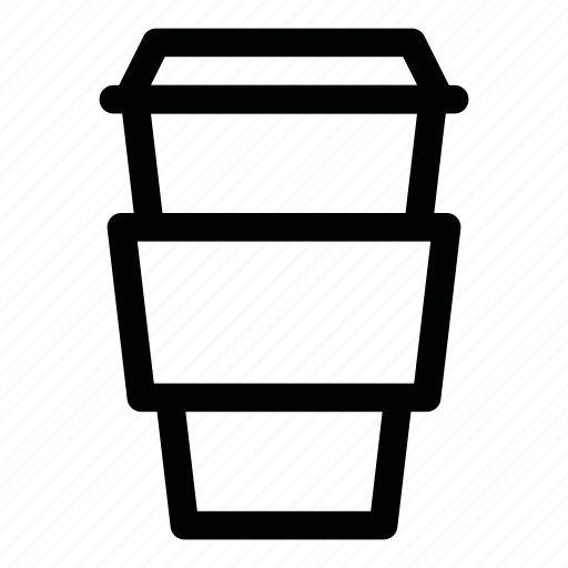 big, cappuccino, coffee, cup, drink, latte, paper icon
