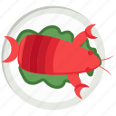 food, kitchen, lobster, plate, restaurant, sea food icon