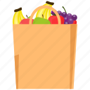 bag, food, fruit, healthy, season icon