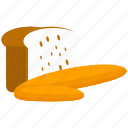 bread, breakfast, food, kitchen, loaf icon