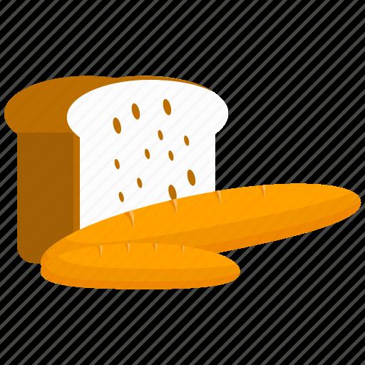 bread, breakfast, food, kitchen, loaf icon