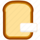 bread, butter, loaf, sliced icon