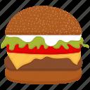 burger, food, hamburger, snack icon