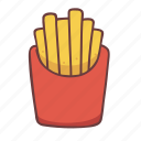 potato, pack, restaurant, french fries, cooking, food, fastfood