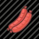 grill, fastfood, hotdog, bbq, food, frankfurter, sausage