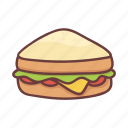 breakfast, cooking, fastfood, food, ham, restaurant, sandwich icon