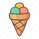 ice cream, dessert, sweet, restaurant, food, cone, tasty