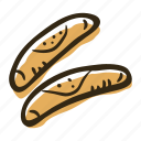 bakery, breakfast, food, pastry, roll, snack icon
