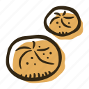 bakery, breakfast, bun, food, pastry, snack icon